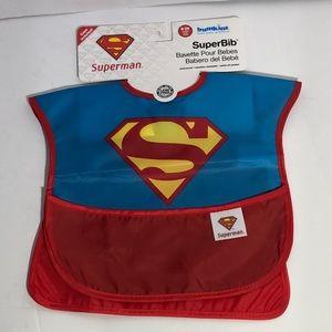 Baby Boy's Superman Waterproof Bib w/ Cape